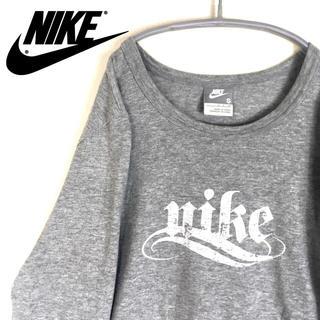 ナイキ(NIKE)のNIKE ナイキ 長袖シャツ ロンT レディース シンプルロゴ タイトめ(Tシャツ(長袖/七分))