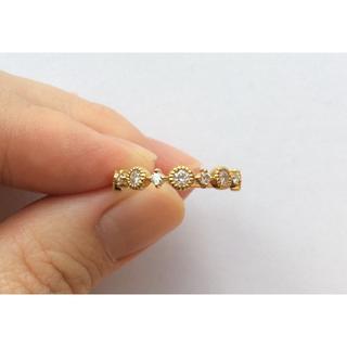 アガット(agete)のK18YG 0.4ctダイヤモンドリング(リング(指輪))