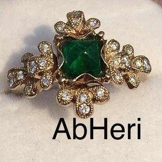 AbHeri アベリ  K18 エメラルドリング  10号  ヨシノブ(リング(指輪))