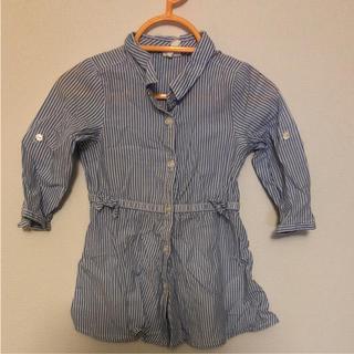 エイチアンドエム(H&M)のシャツワンピ サイズ74(ワンピース)