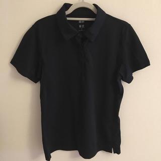 ユニクロ(UNIQLO)のUNIQLO 黒 ドライポロシャツ(ポロシャツ)