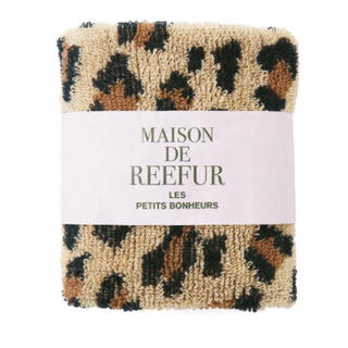 メゾンドリーファー(Maison de Reefur)の【新品】レオパード柄ハンドタオル(ハンカチ)