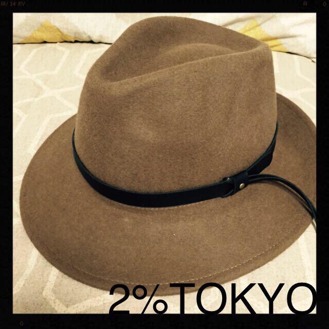 2% TOKYO(トゥーパーセントトウキョウ)の2%TOKYO新品つば広ハット レディースの帽子(ハット)の商品写真