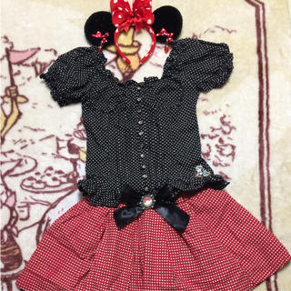 ディズニー(Disney)のミニー 仮装 コスプレ カチューシャ スカート ディズニー 海外 フロリダ(ミニスカート)