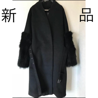 ザラ(ZARA)の☆専用☆ファーコート birthdaybash ブラック バースデイバッシュ(毛皮/ファーコート)