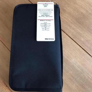 新品 無印良品を パスポートケース ブラック リフィルなし