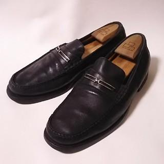 バレンシアガ(Balenciaga)の 希少90sビンテージ名作!バレンシアガ高級レザーモカシンローファー黒短靴   (ドレス/ビジネス)