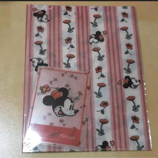 ディズニー(Disney)のクリアファイル2枚セット ミニーマウス ディズニー(クリアファイル)