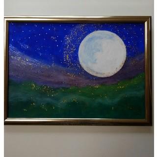 開運アート 森のキラキラ満月