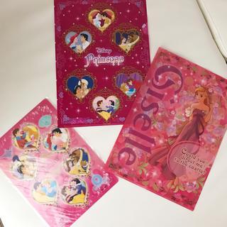 ディズニー(Disney)のプリンセス♡クリアファイル下敷きセット(クリアファイル)