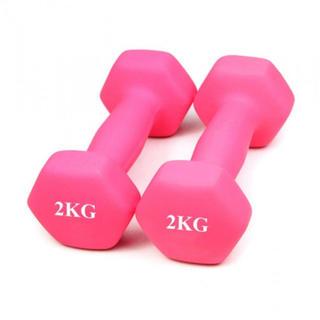 ダンベル 2kg ピンク 2個セット ソフトで握りやすい(トレーニング用品)