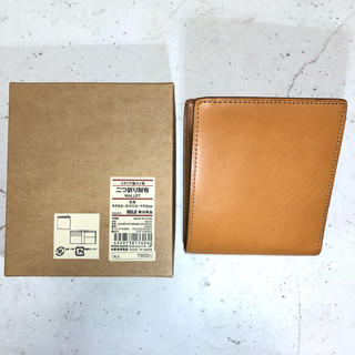 MUJI (無印良品) - 未使用 無印良品 ヌメ革財布 二つ折り 8ヶ月エイジング中