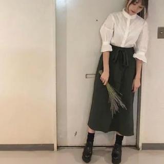 ジーユー(GU)のGU カットソーウエストリボンロングスカート(ロングスカート)
