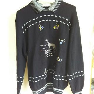アダバット(adabat)のadabatウール100% 襟つきセーター(ウエア)