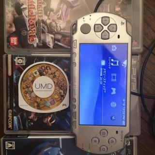 プレイステーションポータブル(PlayStation Portable)のPSP2000 メモリースティック32G ゲーム34作おまけ(携帯用ゲーム本体)