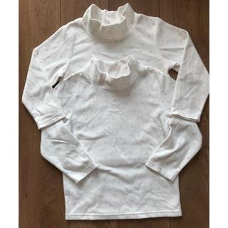 GU - 首まであったかシャツ キッズ110cm 2枚セット