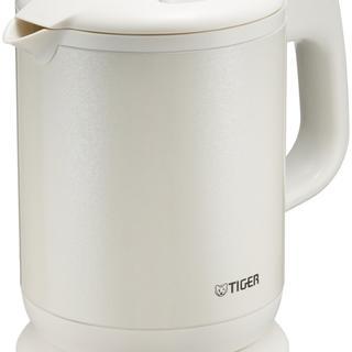 タイガー 魔法瓶 電気 ケトル 800ml パールホワイト(電気ケトル)