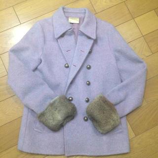 アルバローザ(ALBA ROSA)の新品◆ アルバローザ ALBAROSAピーコート ラビットファーウールジャケット(毛皮/ファーコート)