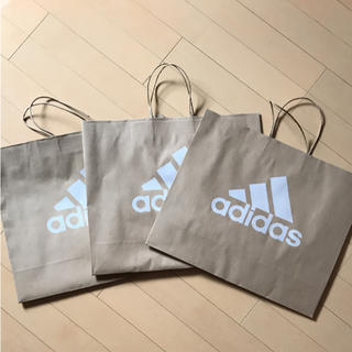 アディダス(adidas)のadidas ショップ袋 3枚入り(ショップ袋)