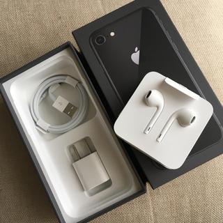 Apple - iPhone8 付属品 正規品 充電器+イヤフォン