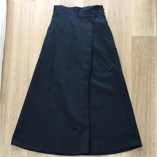 ジーユー(GU)の新品GUロングスカート ラップ見え ディッキーズ 風(ロングスカート)