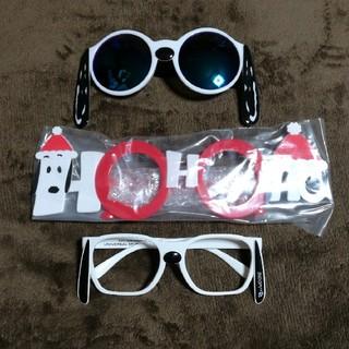 スヌーピー(SNOOPY)のUSJ SNOOPYスヌーピー メガネとサングラス HO-HO-HO 3本セット(サングラス/メガネ)