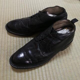 リーガル(REGAL)のリーガル★本革チャッカブーツ/ビジネスシューズ:27.0E黒(ブーツ)