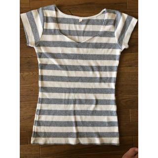 ロイヤルパーティー(ROYAL PARTY)のハートネック Tシャツ(カットソー(半袖/袖なし))