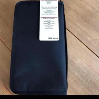 MUJI (無印良品) - 新品 無印良品 パスポートケース ブラック リフィルなし