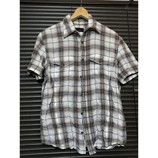 テットオム(TETE HOMME)のTetehomme テットオム半袖シャツ 11SS  シワ加工 チェックシャツ(シャツ)