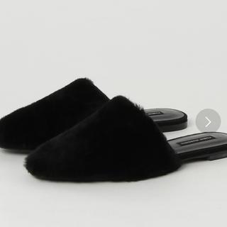 グレースコンチネンタル(GRACE CONTINENTAL)の新品未使用 28000 グレースコンチネンタル   ムートンフラット(ローファー/革靴)