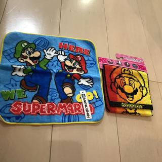ニンテンドウ(任天堂)のスーパーマリオ ハンドタオル ポケット付きタオル(タオル)