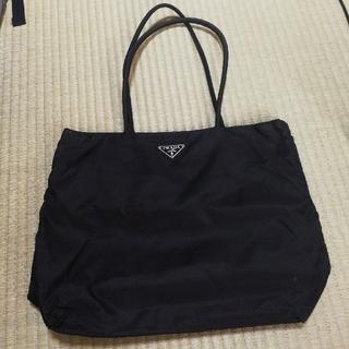 プラダPRADA/ナイロントートバッグ/大容量/黒/仕切り&ジッパーポケット