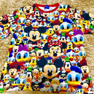 Disney - 【公式】ディズニーぬいぐるみ総柄Tシャツ Lサイズ