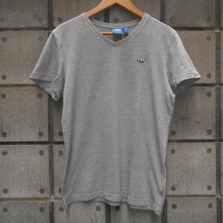アディダス(adidas)の1710 adidas アディダス メンズTシャツ グレー トレフォイル 三つ葉(Tシャツ/カットソー(半袖/袖なし))