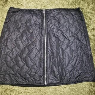 ジーユー(GU)のスカート キルティング フリース 新品未使用品(ミニスカート)