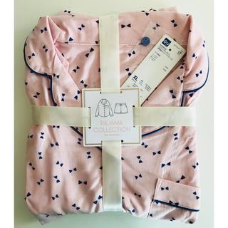 ジーユー(GU)の新品 GU パジャマ ピンク (リボン) (長袖&ショートパンツ) XL(パジャマ)