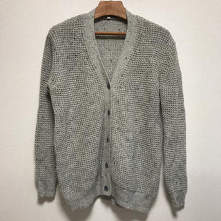 MUJI (無印良品) - 再生ウール畦編みカーディガン