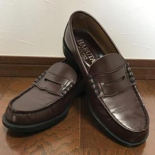 ハルタ(HARUTA)の【美品】HARUTA ローファー 25.5cm ブラウン(ローファー/革靴)