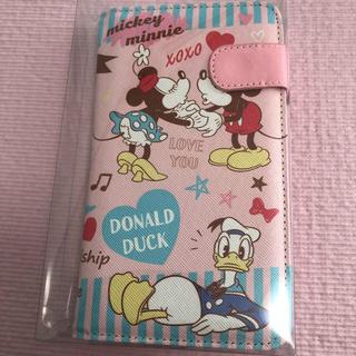 ディズニー(Disney)の☆マルチスマホケース 手帳型 ミッキー&ミニー ピンク♡(モバイルケース/カバー)