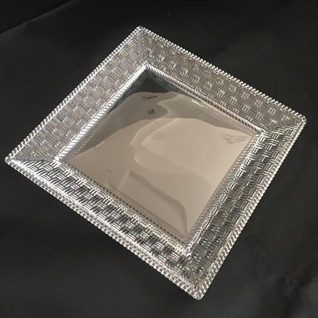online store 60cbc 5bbb1 Tiffany ティファニー ガラス食器 スクエアプレート 角皿   フリマアプリ ラクマ