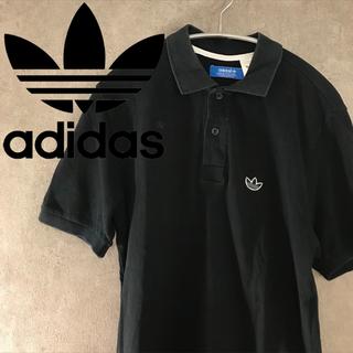 アディダス adidas トレフォイル ポロシャツ 古着 半袖