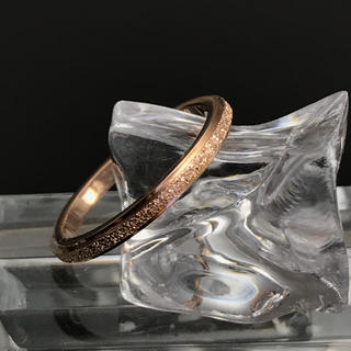 《R104/6.5号》『きらきら加工リング』ピンクゴールドステンレスリング(リング(指輪))