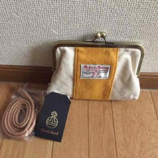 シマムラ(しまむら)の新品ハリスツイードガマ口ポーチ(ポーチ)