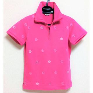 アダバット(adabat)の◆良品◆adabat◆半袖ポロシャツ◆ピンク・繍◆レディーススポーツウェア(ウエア)