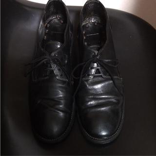 グイディ(GUIDI)のguidi  グイディ  992 短靴 43 黒 カーフレザー(ドレス/ビジネス)