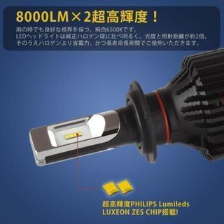 LEDヘッドライトH4 Hi/Lo切替PHILIPSチップ(汎用パーツ)
