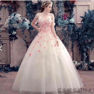 ウエディングドレス カラードレス 披露宴 結婚式 衣装 フラワードレス