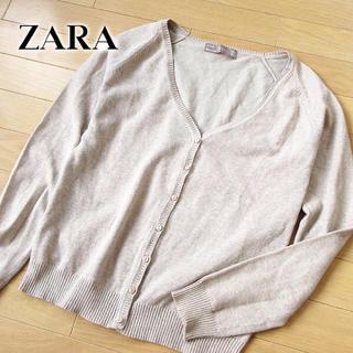 ザラ(ZARA)の美品 (USA)Mサイズ ZARA ザラ カーディガン ベージュ(カーディガン)