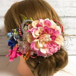 髪飾り  ピンク  成人式  結婚式(ヘアアクセサリー)